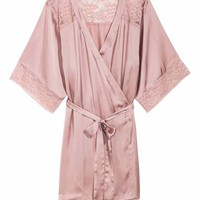 Satin kimono - Old rose - Ladies | H&M GB