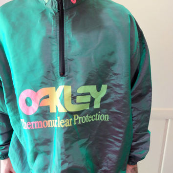 Vintage Oakley Thermonuclear Protection Zippered Jacket 1980s