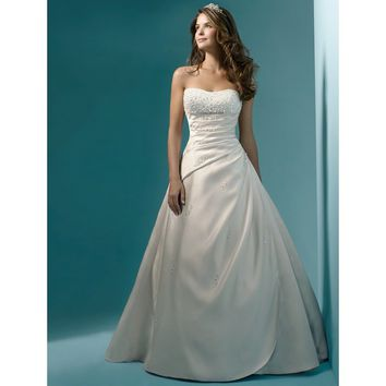 womens Beaded wedding bridal dresses