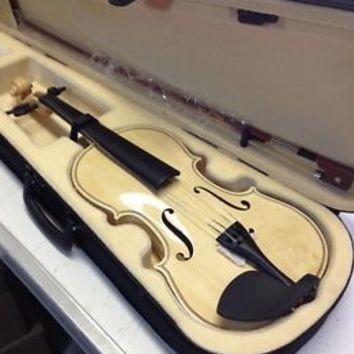 Violin / Fiddle Maplewood & Spruce 4/4 Full size, Case, Bow & Rosin Brand New