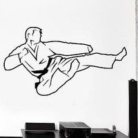 Wall Sticker Sport Karate Martial Arts Fighter Fighting Vinyl Decal Unique Gift (z3052)