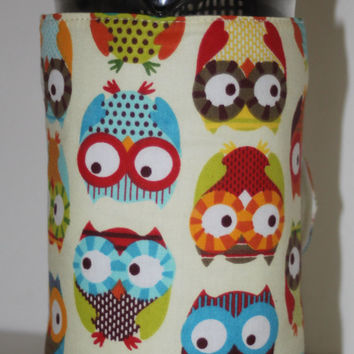 Owl Cafetiere Cosy - Owls Coffee Pot Warmer - Size Options Small 2 - 3 cup (400ml), Medium 6 - 8 cup (1L) and Large 12 Cup (1.5L)