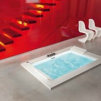 Built-in whirlpool bathtub with chromotherapy SENSE DUAL Sense Collection by NOVELLINI | design Novellini design