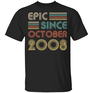 Epic Since October 2008 Vintage 12th Birthday Gifts Youth