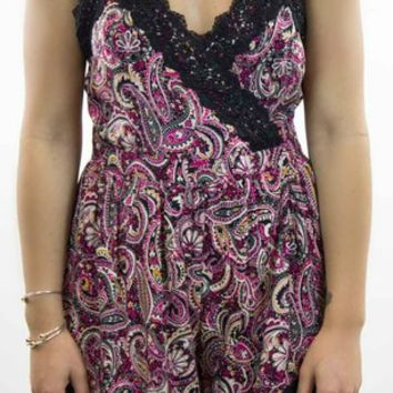 Very J | Paisley Lace Romper