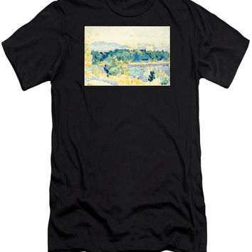 Mediterranean Landscape With A White House - Men's T-Shirt (Athletic Fit)