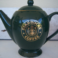 Starbucks 1987 Siren Logo Tea Pot