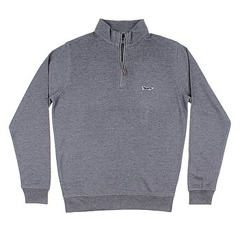 Longshanks Hybrid 1/4 Zip Pullover in Charcoal by Country Club Prep