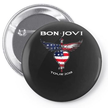 Logo Flag America Bon jovi Tour 2018 Pin-back button