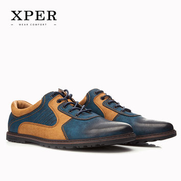 Brand Men Casual Shoes  PU Breathable Men Flats Shoes Mixed Colours Dress Sporty Shoes