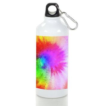 Gift Sport Bottles | Tie Dye Stained Glasses Colorful Aluminum Sport Bottles