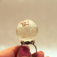 Star Snow Globe Ring by TXCrochetandCupcakes on Etsy