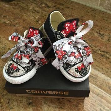 ICIKGQ8 minnie inspired blinged converse