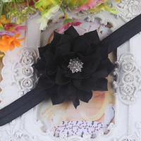 Cute Little Baby Kids Girls Bling Diamond Flower Headwear Baby Girls Infant Toddler Headband Hair Bow Band Accessorie Hot
