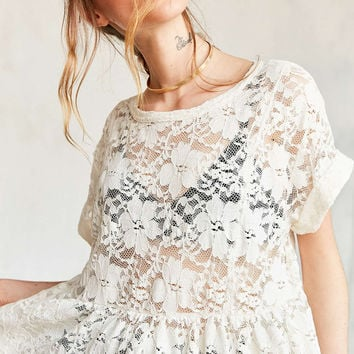 Kimchi Blue Borderlines Babydoll Tee - Urban Outfitters