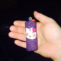 Bat-shit Crazy Hello Kitty handmade BIC Lighter Cover