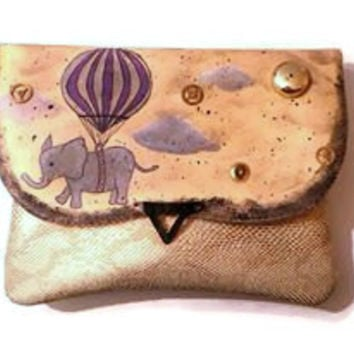 Steampunk bag, elephant purse
