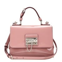 Monica Small patent leather shoulder bag