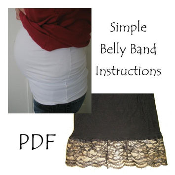 Clearance Sale 50% Off PATTERN, Belly Band, Maternity, Sewing, MAILED Version