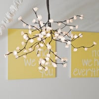 White Cherry Blossom Chandelier Mobile