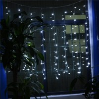 INST 96 LED Curtain Fairy String Lights for Party, Home, Garden Decorations,etc.(White)