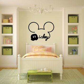 Mickey Mouse Inspired Silhouette Vinyl Wall Decal Sticker