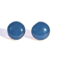 Wild blueberry studs blue post earrings eco friendly jewelry, wood earrings, minimalist jewelry eco fashion for her