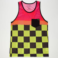 Lost Speed Kills Mens Tank Lime  In Sizes