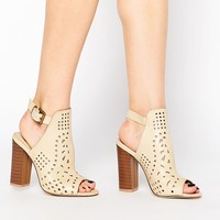 Truffle Collection Vela Cut Out Heeled Sandals at asos.com