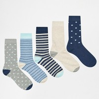 Urban Eccentric | Urban Eccentric Socks in 5 Pack Stripes at ASOS