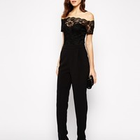 Paper Dolls Lace Jumpsuit