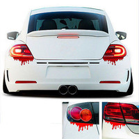 1X Blood Bleeding Car Sticker Reflective Car Decals Rear Front Headlight A433
