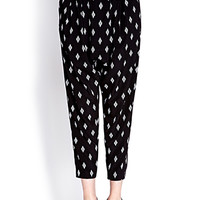 FOREVER 21 Desert Darling Harem Pants Black/White Medium
