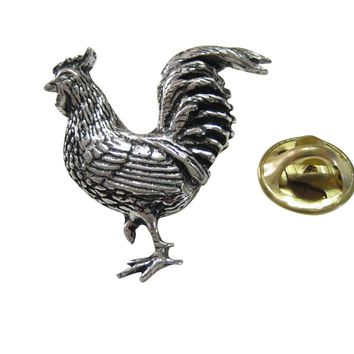 Rooster Chicken Lapel Pin