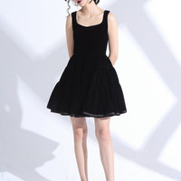 little black dress,velvet dress,black dress,black cocktail dress,party dress,homecoming dress,evening dress,fit and flare dress.--E0801