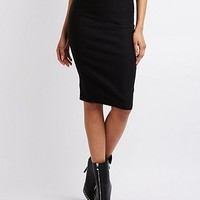 High-Waisted Pencil Skirt | Charlotte Russe