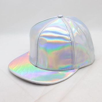 Trendy Winter Jacket 2018 Creative 3D rainbow discoloration hip hop baseball hat for men woman fashion leather change color Cap snapback hats for Men AT_92_12
