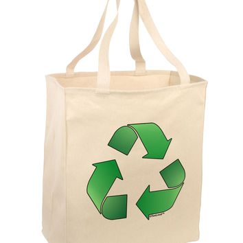 Recycle Green Large Grocery Tote Bag by TooLoud
