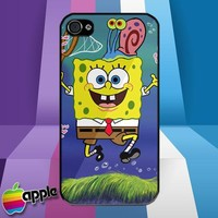 Spongebob Squarepants and Gary Hunting Jellyfish iPhone 4 or iPhone 4S Case
