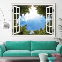 Picturer prints on Trees Outside the Window  home decor Wall poster Canvas painting Wall Art decoration for living room no frame