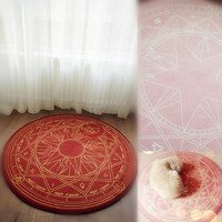 Pink/Dark Red Cardcaptor Sakura Carpet SP153429 from SpreePicky