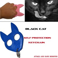 Blue Cat Personal Protection Keychain