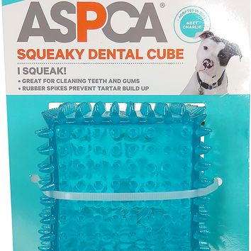 ASPCA Squeaky Dental Cube Dog Toy [Blue]