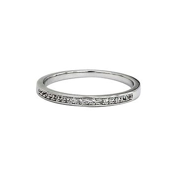 simple row with diamond ring