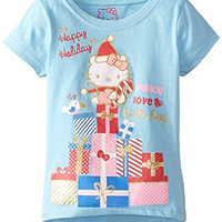 Hello Kitty Little Girls' Short Sleeve Holidays Tee Shirt, Aero, 4