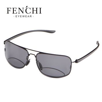 FENCHI 2017 Bifocal Reading Glasses Unisex Diopter Glasses Male Polarized Sunglasses Presbyopic Eyeglasses +1.5+2.0+2.5+3.0