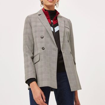 Double Breasted Checked Blazer | Topshop