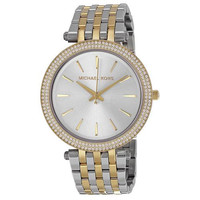 MICHAEL KORS Darci Silver Dial Two-tone Ladies Watch MK3215