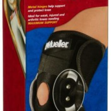 Mueller Adustable Hinged Knee Brace, One Size Fits Most, 1-Count Box