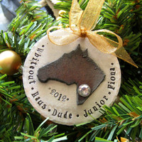 Personalized Horse Ornament-Hand Stamped Ornament-Horse Lover Christmas Gift